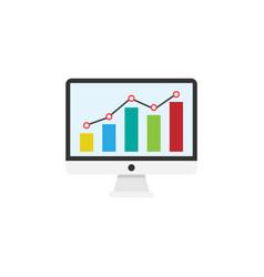 seo monitoring flat icon vector image vector image