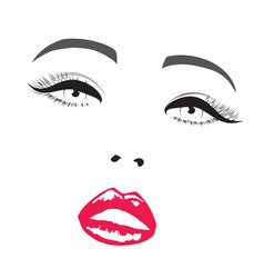 beauty makeup icon vector image vector image