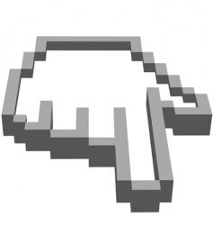 computer hand vector image vector image
