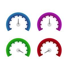 set of speedometer symbols design vector image