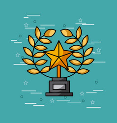 trophy star movies art vector image