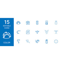 15 color icons vector