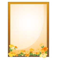 A framed empty signage with flowers vector