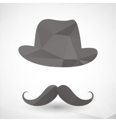 Abstract triangles hipster mustache vector