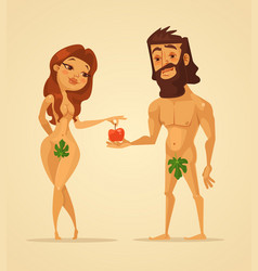 adam and eve characters vector image