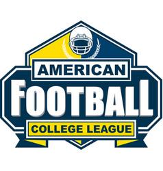 American football college league badge logo vector