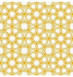 Arabesque islam geometric pattern seamless vector