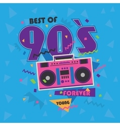 Best of 90s with realistic tape vector