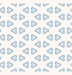 blue and white geometric seamless winter pattern vector image