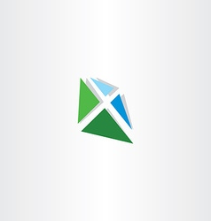 blue green letter x logotype logo vector image