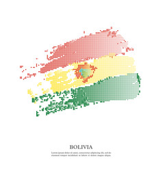 bolivia flag with halftone effect vector image