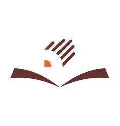 book pencil study logo icon vector image