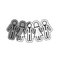 Business teamwork pictogram vector