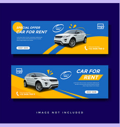 Car rent facebook cover banner ad template vector