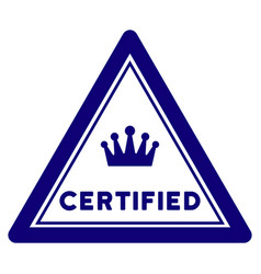 Certified triangle seal template vector