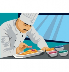 chef cook food vector image vector image