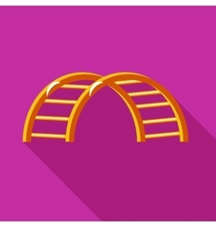 Climbing stairs on a playground icon flat style vector image