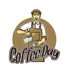 Coffee Day Greeting vector image