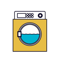 color sections silhouette of wash machine vector image