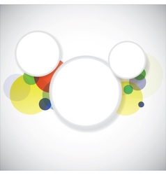 Colorful circles background vector
