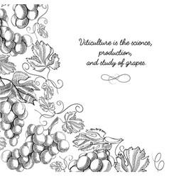 Corner frame scroll ornament doodle vector