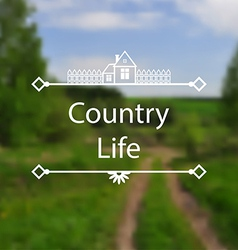 Country Life vector