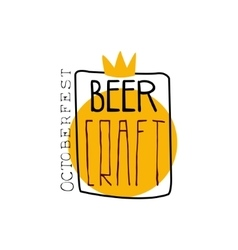 Craft Beer Square Frame Logo Design Template vector image