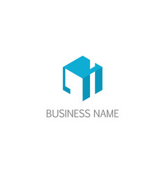cube 3d abstract business logo vector image
