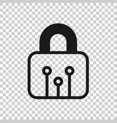 cyber security icon in transparent style padlock vector image