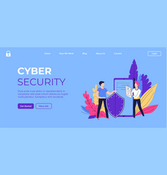 cyber security safety and protection gadgets vector image