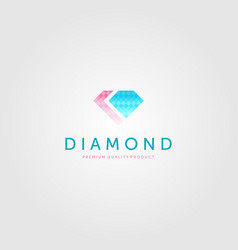 diamond logo luxury jewelry icon design vector image