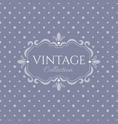 elegant vintage emblem provance vector image