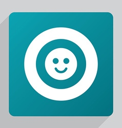 flat smile icon vector image