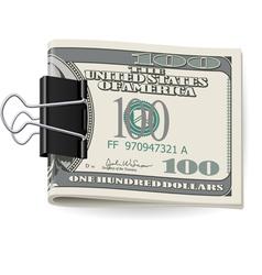 Folding dollars vector