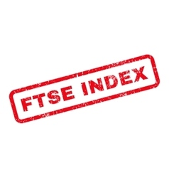 Ftse Index Text Rubber Stamp vector