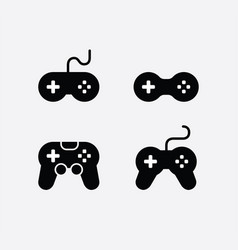 game console icons set video gaming joystick vector image