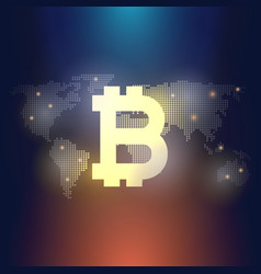global abstract bitcoin crypto currency technology vector image