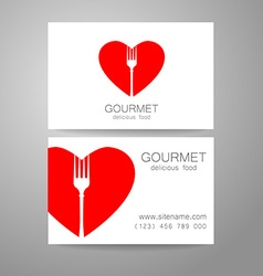gourmet food logo vector image