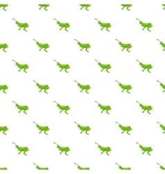 Grasshopper pattern cartoon style vector