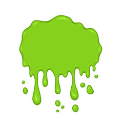 green slime drips vector image