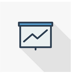 growth graph chart market success arrow up thin vector image