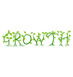 Growth plant typography concept vector