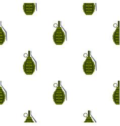 Hand grenade pattern flat vector