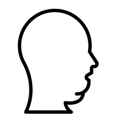 Head overweight icon outline style vector