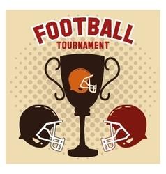 Helmet and trophy of american football design vector