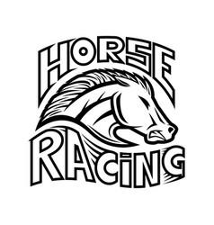 Horse racing icon vector
