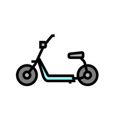 Hover cart color icon vector