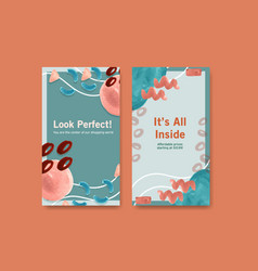 instagram template with shopping design vector image
