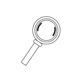 isolated magnifying glass icon vector image
