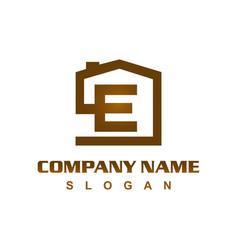 letter b house logo vector image